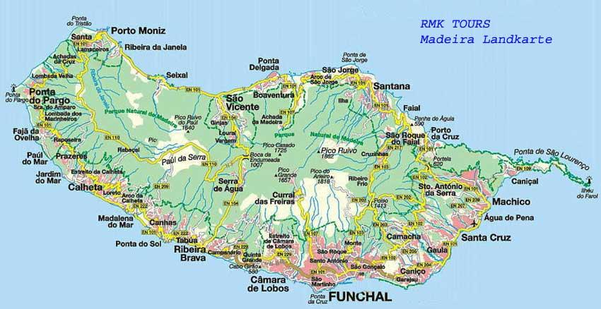 Madeira Map My Blog - Portugal map madeira